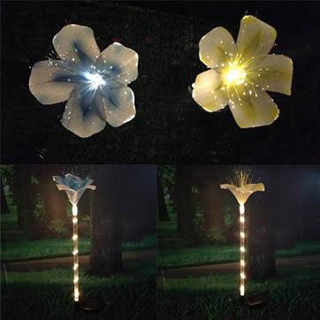 волоконно-оптичний квітковий декор світло