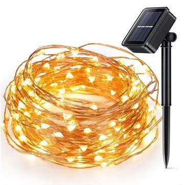 сонячна енергія мідна дріт ланцюг світла